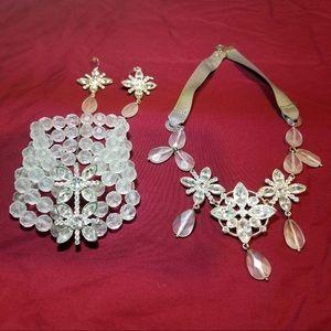 Jewelry - Silver Gem Jewelry Set